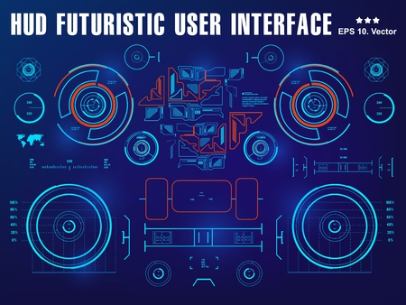 Futuristic virtual graphic touch user interface, target Helmet HUD. Future Technology Display Design