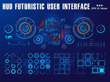 Futuristic virtual graphic touch user interface, target Sci-Fi Helmet HUD. Future Technology Display Design 版權商用圖片