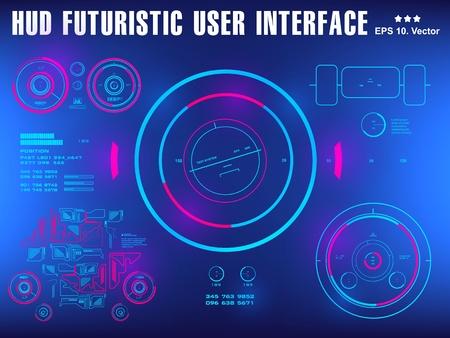Interface utilisateur tactile graphique virtuelle futuriste