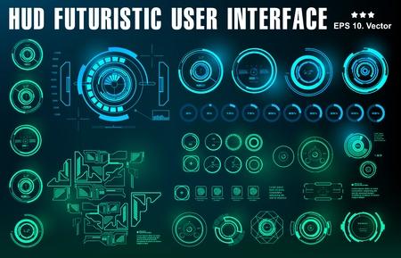 Futuristische virtuelle Grafik Touch-Benutzeroberfläche