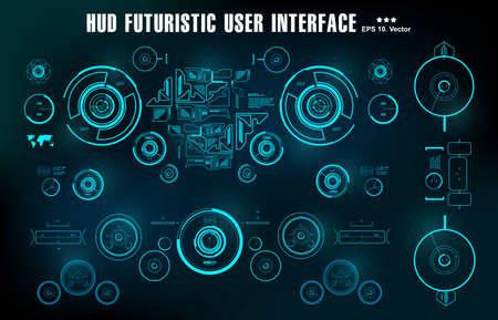 Futuristic virtual graphic touch user interface, target 版權商用圖片 - 159627943
