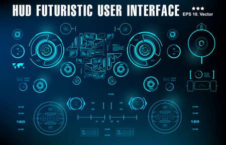 Futuristic virtual graphic touch user interface, target 版權商用圖片 - 159627951