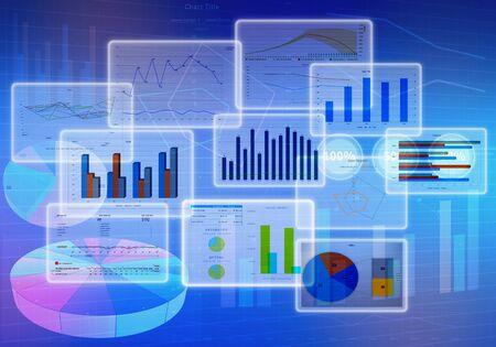 금융 기호 차트 다이어그램 및 비즈니스