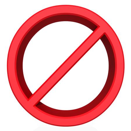 danger do not cross: Not allowed sign on white background