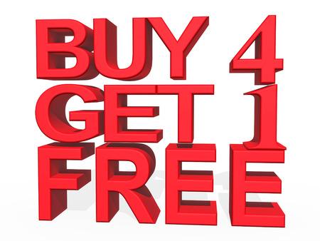 購入 4 1 無料取得白い背景の 3 d イラスト