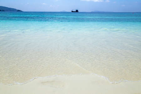 Beautiful beach and tropical sea. Lord Heaven Island or Lord Loughborough Island, Myanmar.