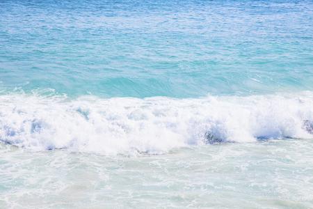 Splashing waves on the rocks