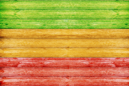 Wooden Background with Reggae color Stockfoto