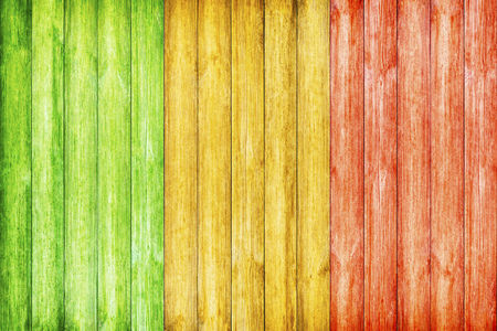 Wooden Background with Reggae color 스톡 콘텐츠
