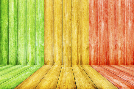 Wooden Background with Reggae color Stock Photo