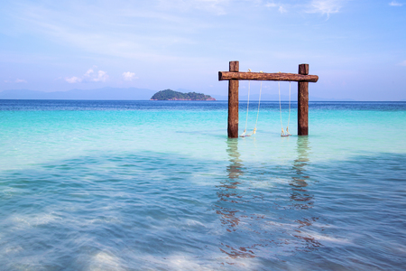 Beautiful beach and tropical sea with clear sky