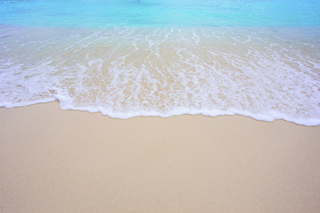 Soft wave and beautiful beach background