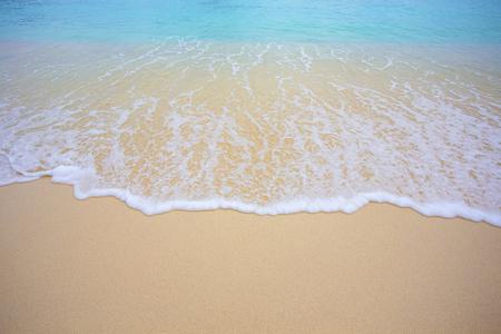 Vague douce et belle plage Banque d'images