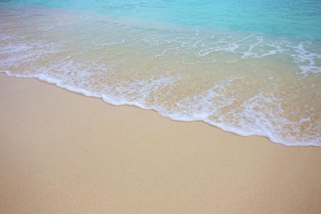 Soft wave and beautiful beach