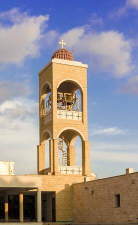 belfry: Belfry of Panayia Church in Agia Napa, Cyprus. Modern design