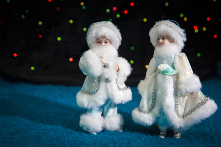 snow maiden: Russian Christmas decorations Father Frost and Snow Maiden