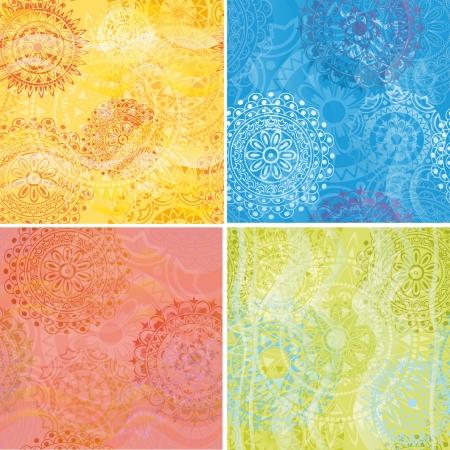 Set of beautiful ethnic textures Stock Vector - 16159170