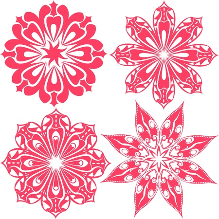 A set of floral lace Stock Vector - 16281000