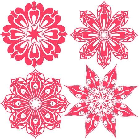A set of floral lace