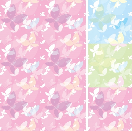 A set of textures with butterflies Stock Vector - 16281011