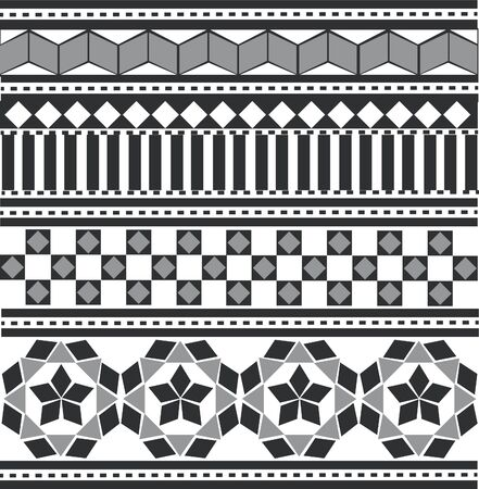 black-white Arabian, Indian pattern Stock Vector - 16281002