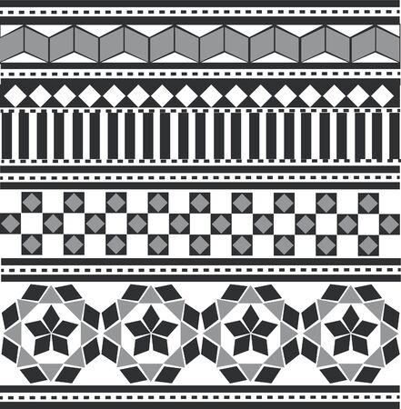 black-white Arabian, Indian pattern