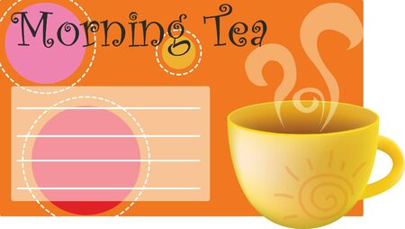 Background for text with a cup of tea Stock Vector - 16281008
