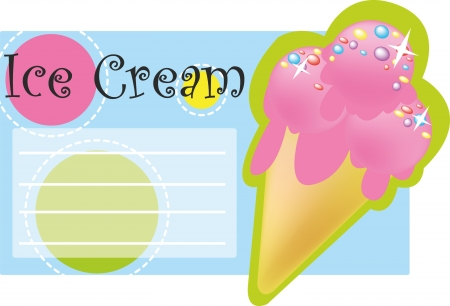 Background for text with ice cream Illustration