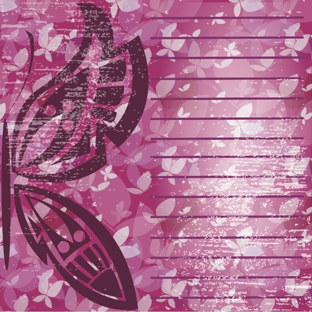 Background with butterflies for decoration of the text Stock Vector - 16280971