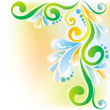 Bright patterns drops Illustration