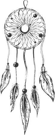 feathery: Dreamcatcher Illustration
