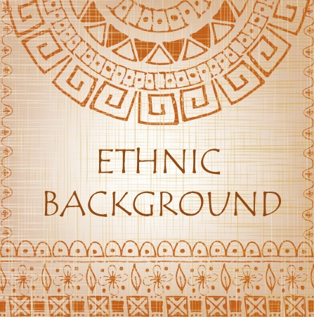 Ethnic background with fabric texture Stock Vector - 17207596