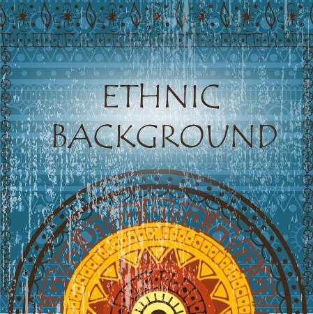 Ethnic background with patterns and mandala