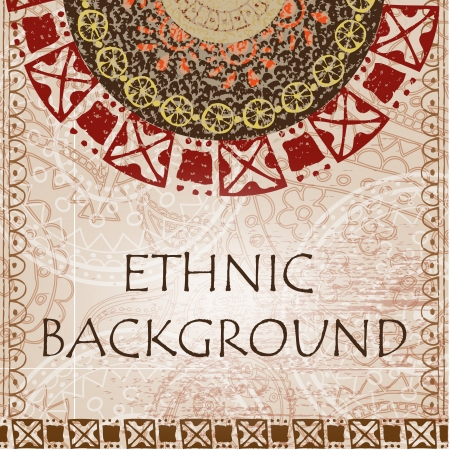Ethnic background with with ornament and texture Illustration