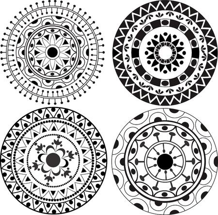Ethnic lacy mandala patterns