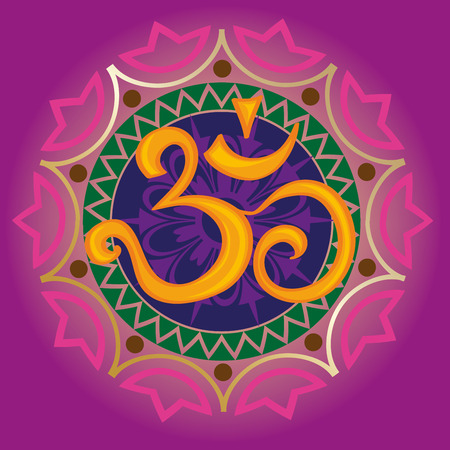 ohm: Chakra ohm with the mandala