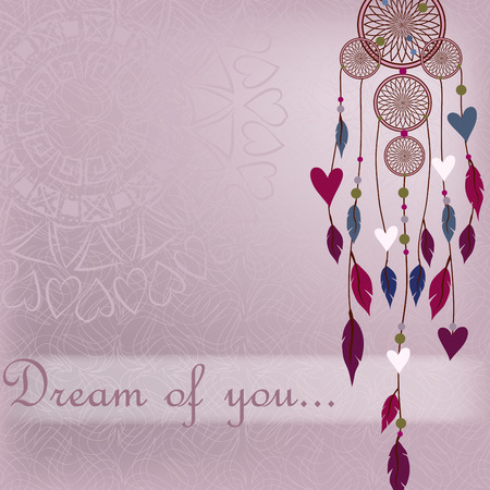 Dreamcatcher in a romantic style