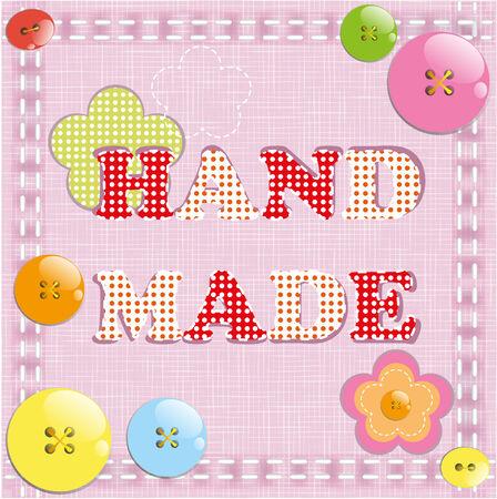 hand made: Hecho a mano con botones y telas