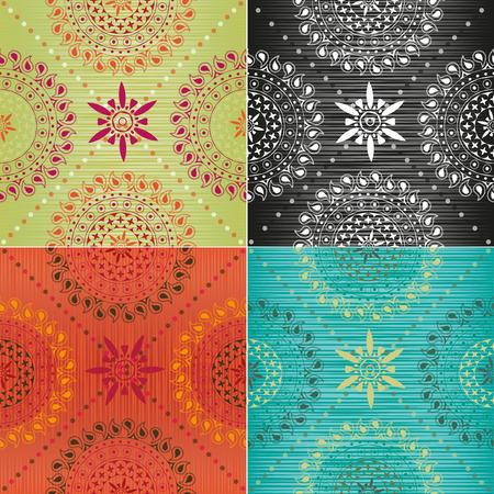 ethnics: Set of textures in trendy colors