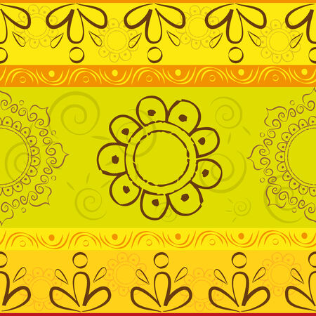 Texture with ethnic patterns and mandalas Illustration