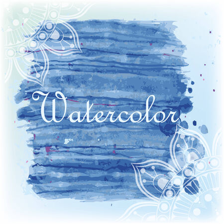 Watercolor with ornament