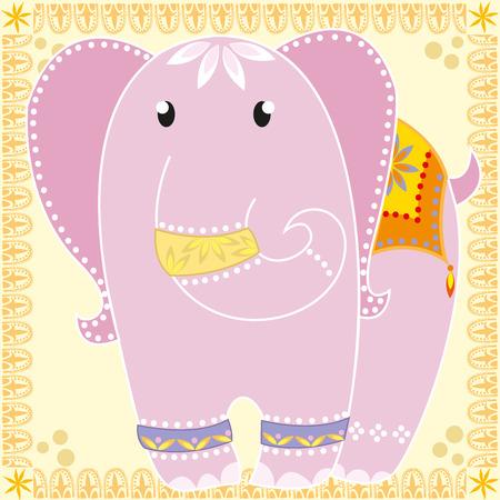 Beautiful pink elephant