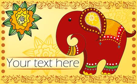 cartoon Indian elephant Illustration