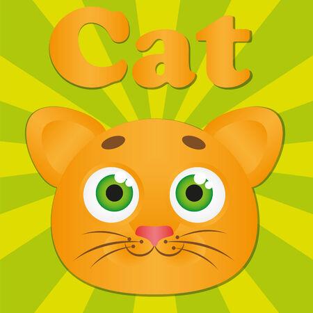 Bright orange cat Illustration