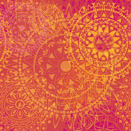 arabic motif: Multipillar texture, trendy tones