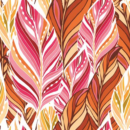 colores calidos: Textura con plumas en colores c�lidos Vectores