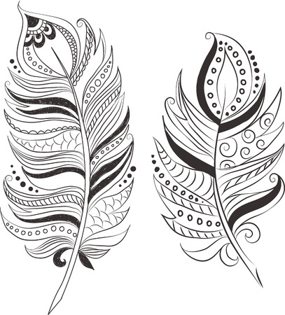 catcher: Feathers in tribal style.