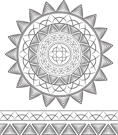 Geometric mandala. Patterns.