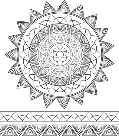 Geometric mandala. Patterns.