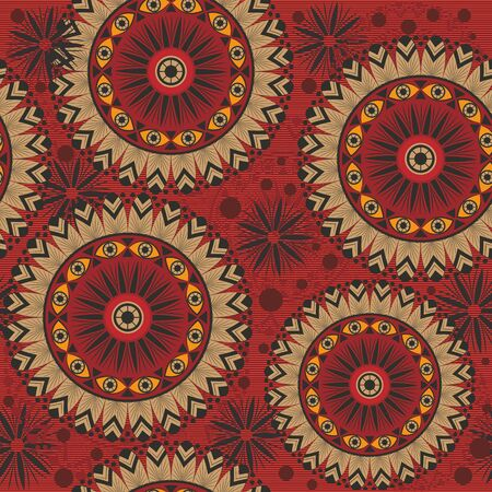 Texture with mandalas and patterns.